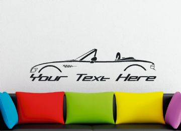Large Custom car silhouette wall sticker - for BMW Z3 Roadster convertible cabrio